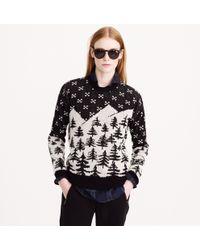 J.Crew Black Cabin Sweater - Lyst