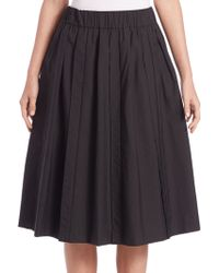Brunello Cucinelli   Cotton-blend Pull-on Midi Skirt   Lyst