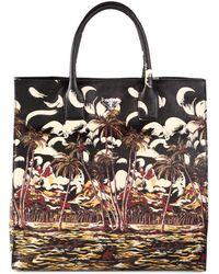 Prada Saffiano Print Tote multicolor - Lyst