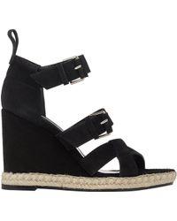Balenciaga Double-Buckle Wedge Espadrille Sandals - Lyst