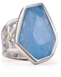 T Tahari - Colour Grid Ring - Lyst