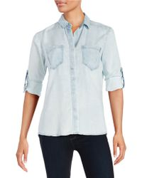 Thread & Supply - Hi-lo Button-front Shirt - Lyst