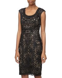 Sue Wong Passementerie Sleeveless Cocktail Dress - Lyst