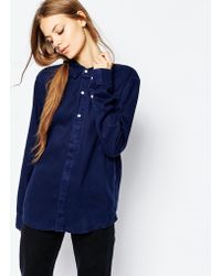 Bethnals - Exposed Button Shirt - Lyst