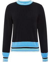 Opening Ceremony Delta Striped Crewneck Top - Lyst