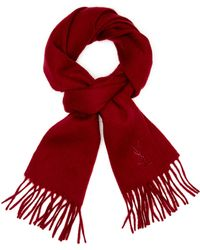 Saint Laurent Embroidered Wool Scarf - Lyst