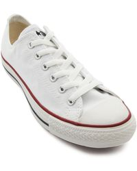 Converse White Low All Star - Lyst