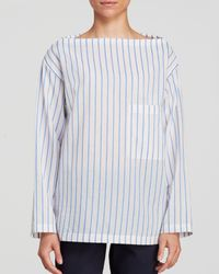 Theory Top - Vinata Striped Lawn - Lyst