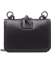 Valentino Rockstud Noir Leather Shoulder Bag - Lyst