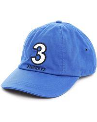 Hackett Blue Numbers Baseball Cap - Lyst