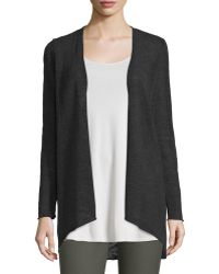 Eileen Fisher | Angled-front Melange Cardigan | Lyst
