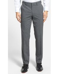 Calibrate | Flat Front Houndstooth Trousers | Lyst