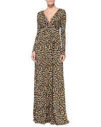 Rachel Pally Longsleeve Printed Jersey Maxi Dress - Lyst