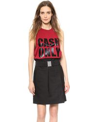 3.1 Phillip Lim Cash Only Tank Ruby - Lyst