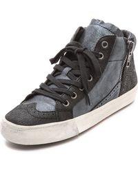 Ash Bis High Top Metallic Sneakers - Blackblack Midnight - Lyst