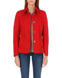 Burberry Copford Short Quilted Coat Military Red - Lyst