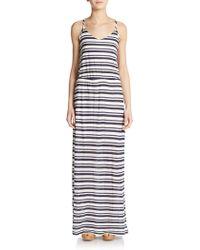 Splendid Striped Eyelet Maxi Dress - Lyst