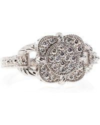 Charriol Flower Diamond Pave Ring silver - Lyst