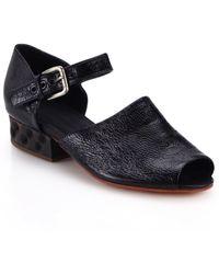 Rachel Comey Lubbock Wooden-Heel Leather Sandals black - Lyst