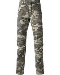 Balmain Green Skinny Jeans - Lyst