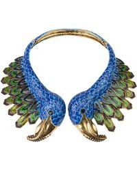 Akira Black Label | Peacock Collar Necklace | Lyst