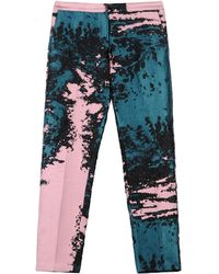 MSGM Multicolor Casual Pants - Lyst