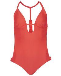 Topshop Macrame Back Swimsuit - Lyst