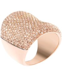 Michael Kors - Concave Pave Ring - Lyst