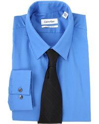Calvin Klein Extreme Slim Fit Solid Dress Shirt - Lyst