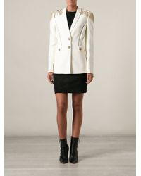 Versace Military Hestitch Jacket - Lyst