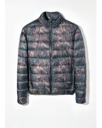 Mango Camo Water-repellent Quilted Jacket - Lyst