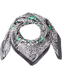 Basler - Silk Scarf With Pattern Mix - Lyst