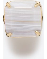 Ann Taylor Agate Cocktail Ring - Lyst