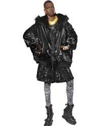 KTZ Oversized Nylon Jacket W/ Faux Fur Trim - Lyst