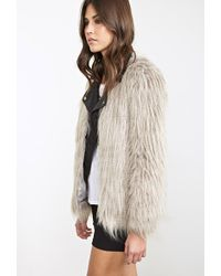 Forever 21 Faux Raccoon Jacket - Lyst