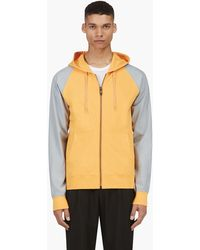 Marc Jacobs Orange Contrasting Sleeve Hoodie - Lyst