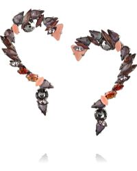 Vickisarge - Birds Of Paradise Hematite-Plated Crystal Earrings - Lyst