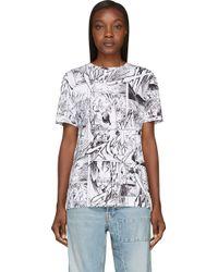 McQ by Alexander McQueen White Usagi Manga Print Boyfriend T Shirt - Lyst