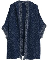 Mango - Knitted Cotton-blend Cape - Lyst