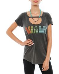 Chaser Miami Vintage Jersey Open Front Shirttail Tee - Lyst