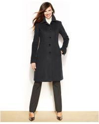 Anne Klein Petite Wool Cashmere Blend Walker Coat - Lyst
