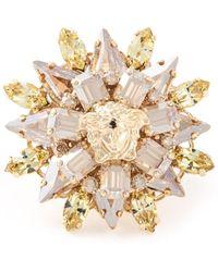Versace Blooming Medusa Ring - Lyst