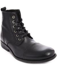 Selected Black Leather Boots Sel Taylor - Lyst