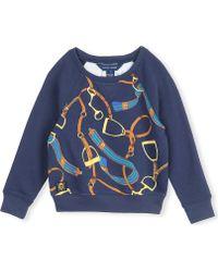 Ralph Lauren Stirrup Print Sweatshirt 2-7 Years - Lyst