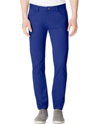 Calvin Klein Sateen Bowery Casual Pants - Lyst