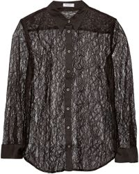 Equipment Reese Clean Lace Blouse - Lyst