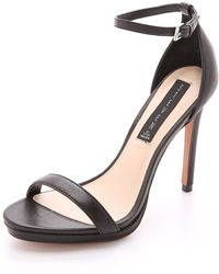 Steven By Steve Madden Rykie Sandals Black - Lyst