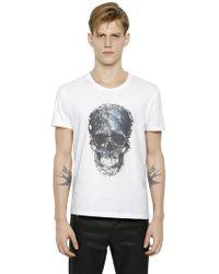 Alexander McQueen Skull Print T-Shirt white - Lyst
