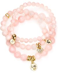 Sequin - Love Heart Bracelets, Set Of 3 - Lyst
