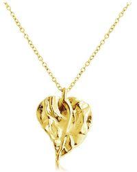 Belcho - Wrinkled Leaf Pendant Necklace - Lyst